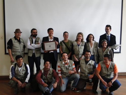 Receiving the official recognition of Birdlife International